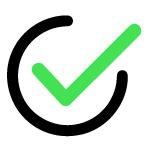 icon tích xanh